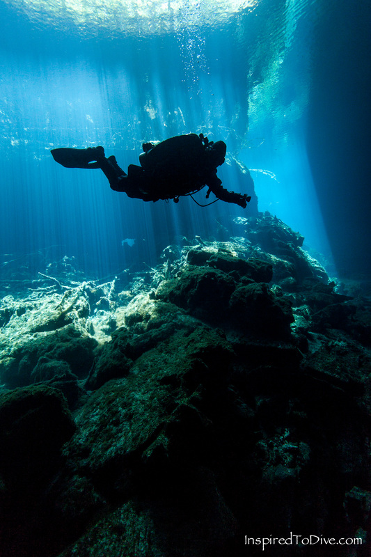 Cenotes are the window to the underworld for cave divers